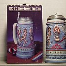 BUDWEISER CS162 1992 US WINTER OLYMPIC LIDDED STEIN MUG