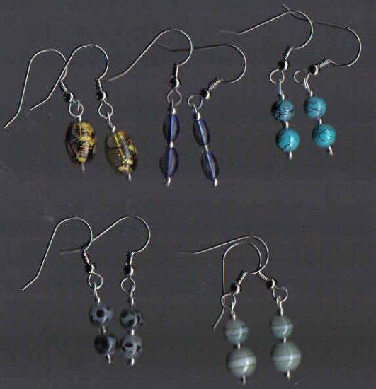 Dangle Glass Earrings Lot of 5!