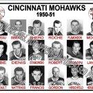 1950-51 AHL CINCINNATI MOHAWKS  HEADSHOTS TEAM PHOTO