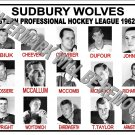 1962-63 EPHL SUDBURY WOLVES HEADSHOTS TEAM PHOTO
