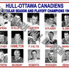 1961-62 EPHL HULL-OTTAWA CANADIENS HEADSHOTS PHOTO