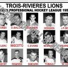 1959-60 EPHL TROIS-RIVIERES LIONS HEADSHOTS PHOTO