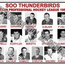 1960-61 EPHL SOO THUNDERBIRDS HEADSHOTS TEAM PHOTO