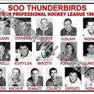 1961-62 EPHL SOO THUNDERBIRDS HEADSHOTS TEAM PHOTO