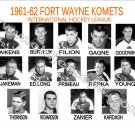 1961-62 FORT WAYNE KOMETS HEADSHOTS TEAM PHOTO