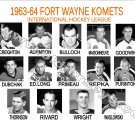 1963-64 FORT WAYNE KOMETS HEADSHOTS TEAM PHOTO