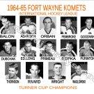 1964-65 FORT WAYNE KOMETS HEADSHOTS TEAM PHOTO