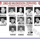1962-63 MUSKEGON ZEPHYRS HEADSHOTS TEAM PHOTO