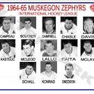 1964-65 MUSKEGON ZEPHYRS HEADSHOTS TEAM PHOTO