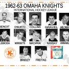 1962-63 OMAHA KNIGHTS IHL HEADSHOTS TEAM PHOTO