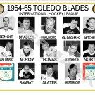 1964-65 TOLEDO BLADES IHL HEADSHOTS TEAM PHOTO