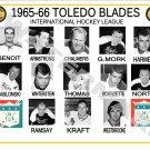 1965-66 TOLEDO BLADES IHL HEADSHOTS TEAM PHOTO