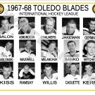 1967-68 TOLEDO BLADES IHL HEADSHOTS TEAM PHOTO