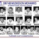 1967-68 MUSKEGON MOHAWKS  IHL HEADSHOTS TEAM PHOTO