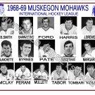 1968-69 MUSKEGON MOHAWKS  IHL HEADSHOTS TEAM PHOTO