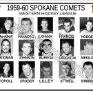1959-60 SPOKANE COMETS WHL HEADSHOTS TEAM PHOTO