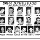 1949-50 LOUISVILLE BLADES USHL HEADSHOTS TEAM PHOTO