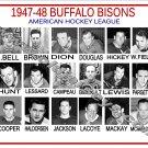 1947-48 BUFFALO BISONS AHL HEADSHOTS TEAM PHOTO