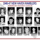 1946-47 NEW HAVEN RAMBLERS AHL HEADSHOTS TEAM PHOTO