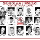 1961-62 CALGARY STAMPEDERS WHL HEADSHOTS TEAM PHOTO
