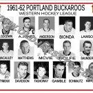 1961-62 PORTLAND BUCKAROOS WHL HEADSHOTS TEAM PHOTO