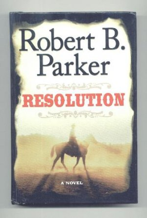 LARGE PRINT WESTERN Robert B. Parker - Resolution, ExLibr HC