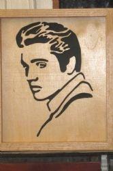 Elvis Presley Portrait - Hand Cut on a Scroll Saw Framed
