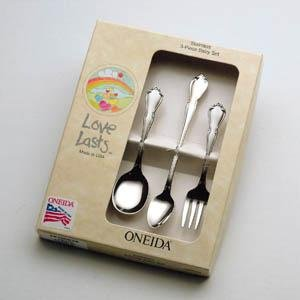 Chateau 3pc Baby Set, Stainless Steel