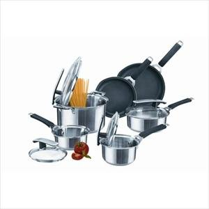 Pyrex Stainless Steel 10-pc Cookware Set