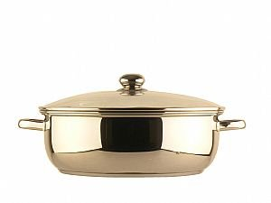 10qt 34cm cov'd Stainless Steel Casserole Pan with Buffet