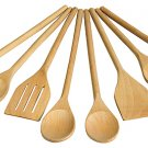 EIGHT PIECE WOOD UTENSIL SET