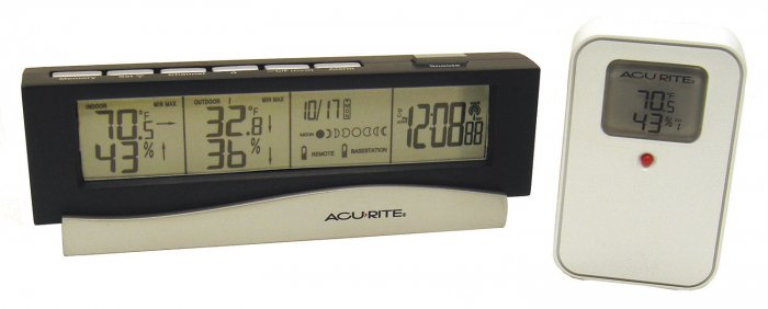 ACCURITE Wireless Indoor/Outdoor Therm. With Clock and Calendar