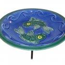 Blue Fish Bowl & Stake