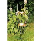 Double Cattails Bird Bath