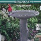 Flower Bird Bath-Black Granite