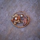 Vintage circle flower brooch (SALE)