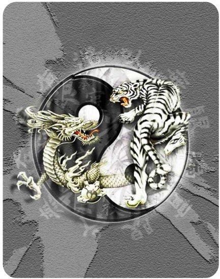 Apple iPad Custom Skin Sticker Decal - Dragon vs Tiger - Tai Chi