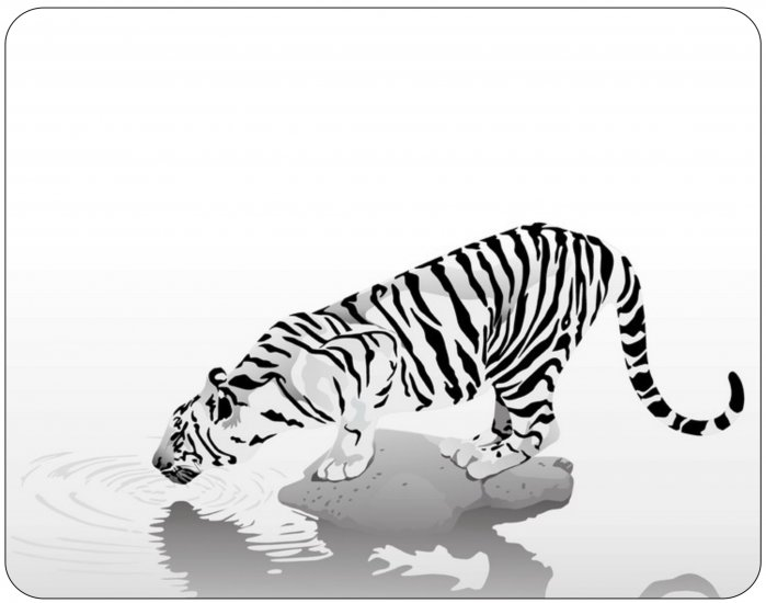 Apple iPad Custom Skin Sticker Decal - White Tiger - tan effect