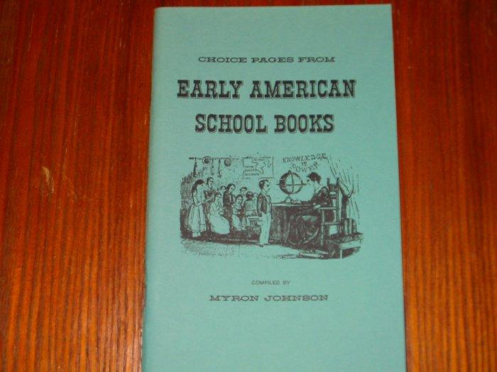 Early American School Books