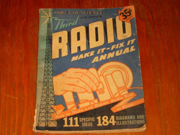 Third Radio Make it Fix it Annual How to Make & Repair Radio Sets At Home