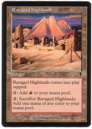 Magic The Gathering MTG Ravaged Highlands Odyssey
