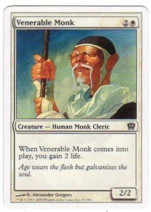Magic The Gathering MTG Venerable Monk 9th Edition