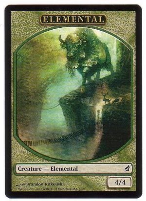 Magic MTG Promo Token Green Elemental Lorwyn