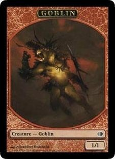 Magic MTG Promo Token Goblin Shards of Alara