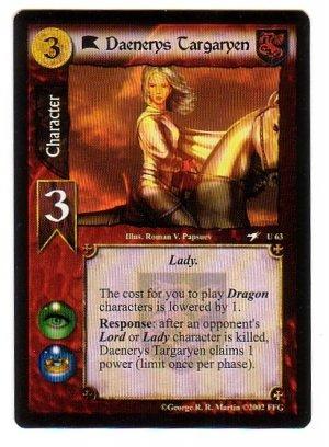 Game of Thrones Card Game - Daenerys Targaryen U63 - Flight of Dragons
