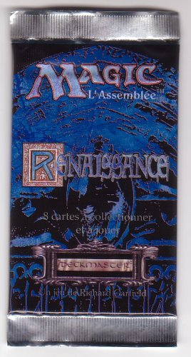 Magic The Gathering MTG French Renaissance Booster Pack Blue  - 1995