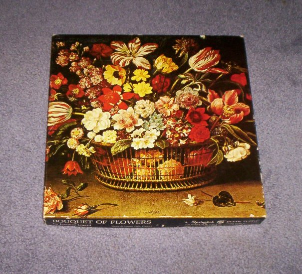 "Springbok Puzzle ""Bouquet of Flowers"" 1971 Vintage Jigsaw Hallmark"