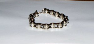 Unisex Bike Motorcycle Chain Link Bracelet Silver NEW!