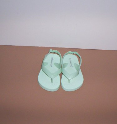 Old Navy Teal Aqua Toddler Baby Girl Size 5 Flip Flops Sandals Shoes New!