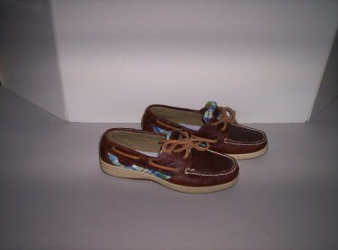 Sperry Top-Sider Ladies Brown Loafers Shoes Size 5.5 EUC!